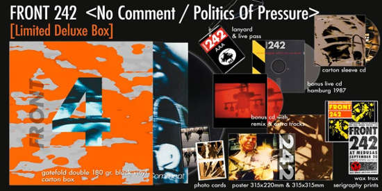 NO COMMENT + POLITICS OF PRESSURE. (DELUXE ANNIVERSARY LIMITED BOX)