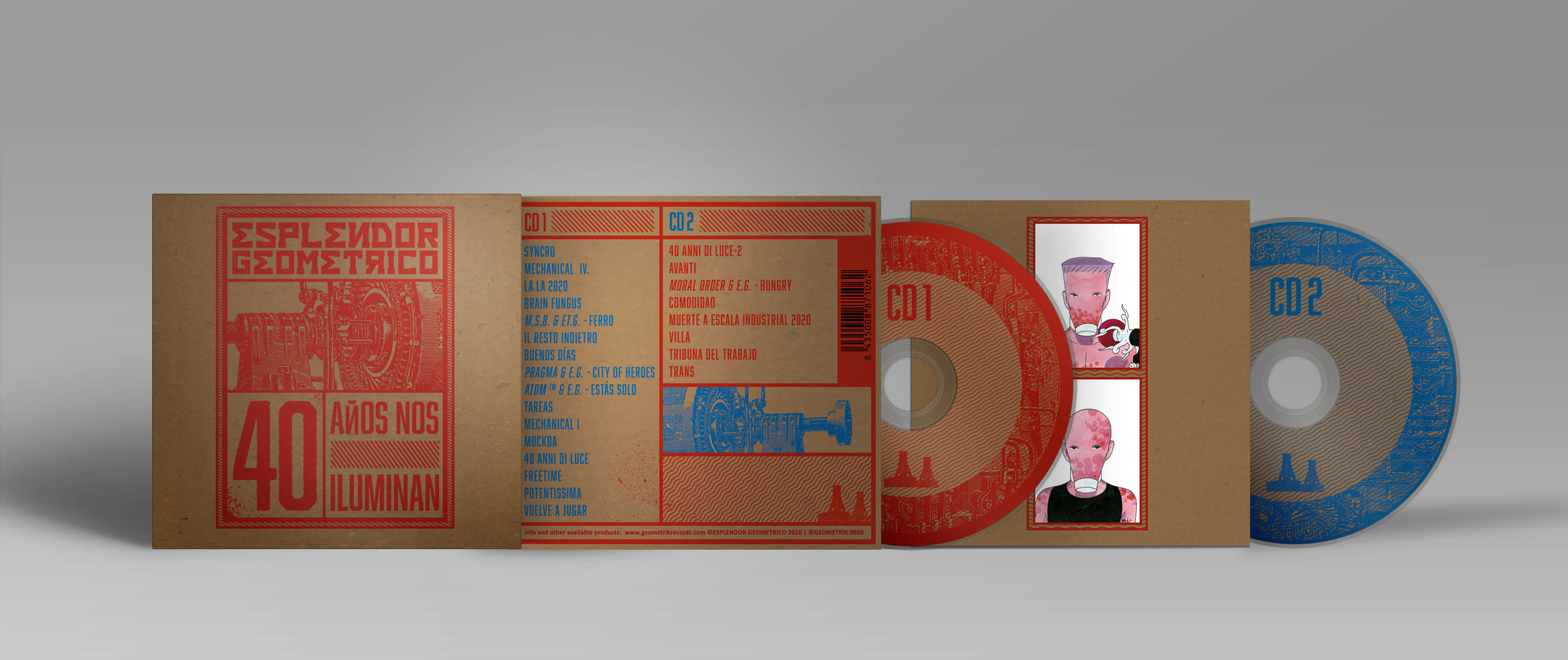 Doble CD desplegado